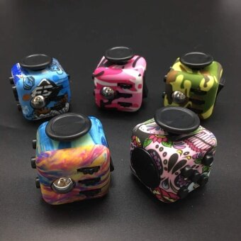 20 pcs Decompression cube  camouflage  decompression  dice  relieve stress  concentrate  pressure toysCamouflage 4 - intl