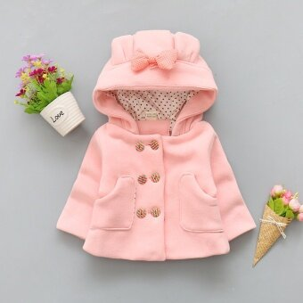 2017 Baby Girl Winter Coat Kids Hoodie Thick Warm Cotton JacketsFashion Outerwear Coat - intl