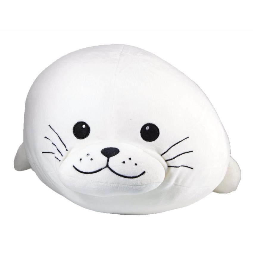 หมอนข้างแมวน้ำ (สีขาว) ขนาด 24 นิ้ว
