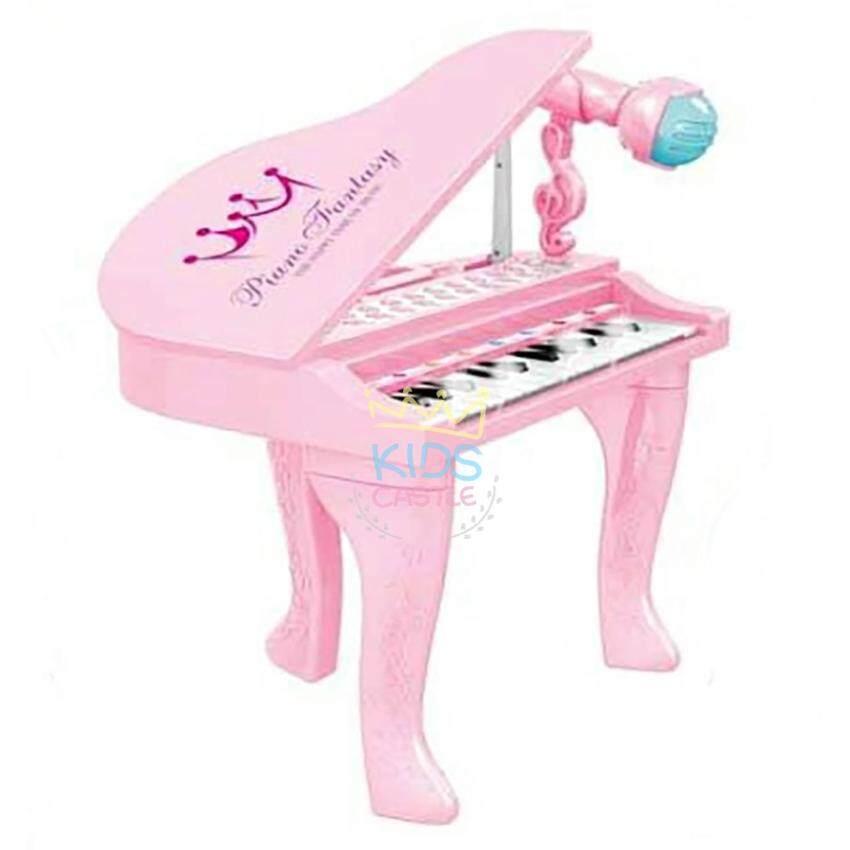 เปียโนสำหรับเจ้าหญิงเจ้าชายตัวน้อย 25คีย์พร้อมไมโครโฟนสีชมพู My Little Piano