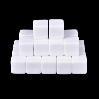 25pcs/Set Blank White Dice / Counting Cubes D6 Square Rpg GamingDice Diy 16mm - intl