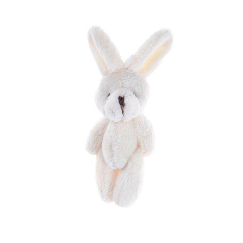 ขาย 2Pcs/Set 11.5 cm Wedding Gift Joint Rabbit DIY Pendant Plush Stuffed TOY For Baby Kid Beige 11.5cm - intl