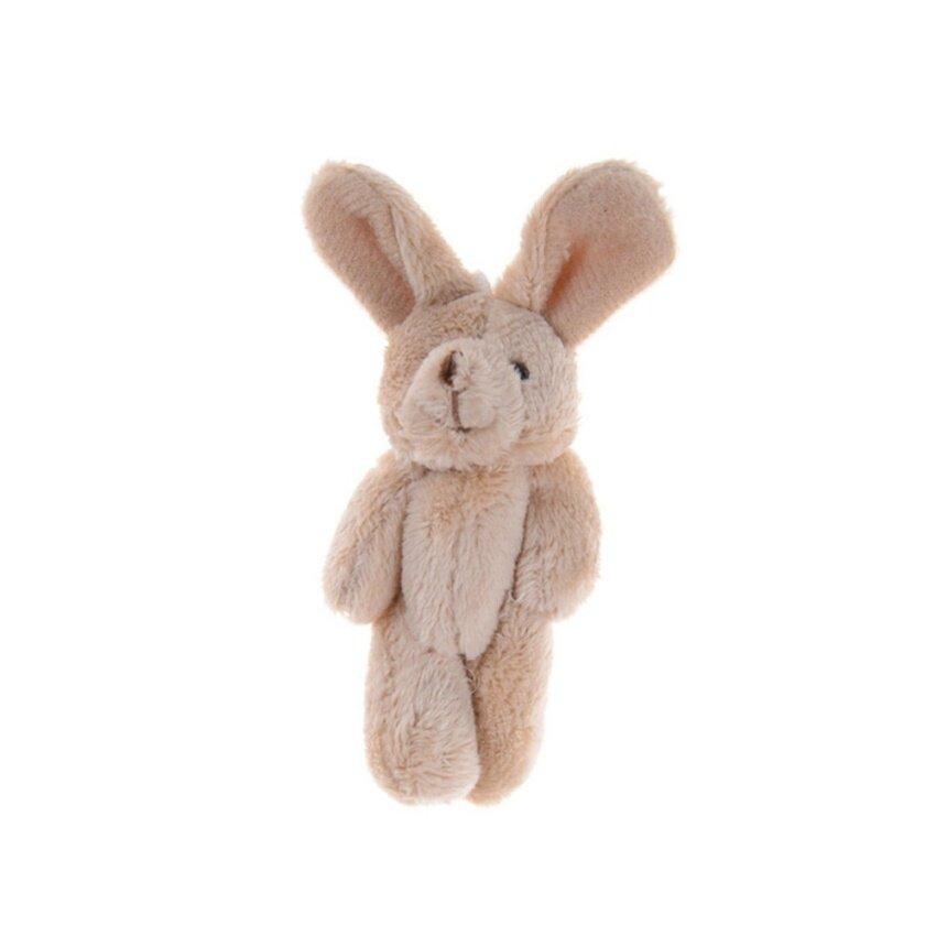 2Pcs/Set 11.5 cm Wedding Gift Joint Rabbit DIY Pendant Plush Stuffed TOY For Baby Kid Wholesale Brown 11.5cm - intl