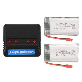2X 1200mAh 3.7V Lipo Battery+4in1 USB Charger w/ Cable for SymaX5HW X5HC BC670