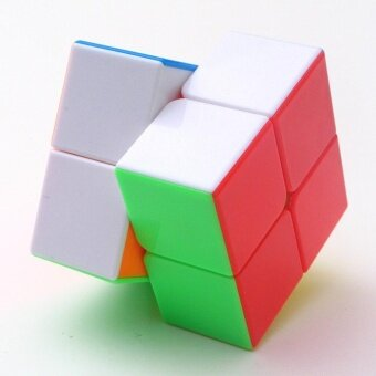 2x2 Brain Teaser Puzzle Cube Stickerless Pocket Cube IntelligenceToys for Magic Cube Beginners,Colorful - intl