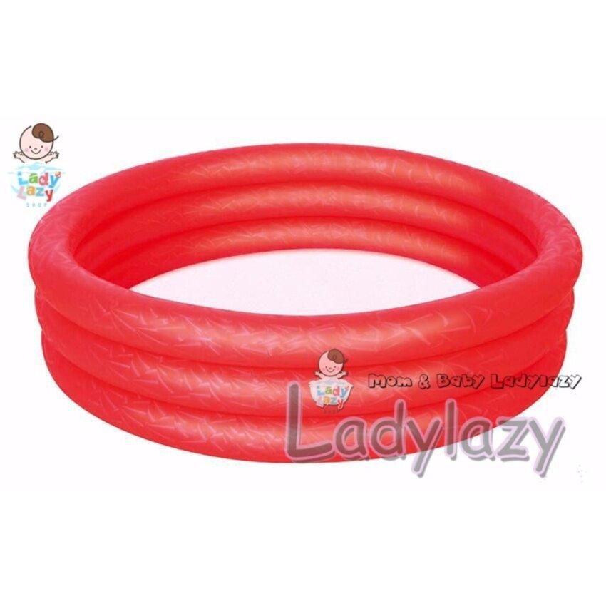 สระน้ำเด็ก 3 ชั้น ขนาด 122x25 cm สีแดง