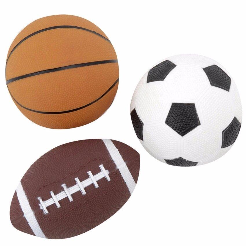 เซทรวมลูกบอลกีฬา - ฟุตบอล ลูกบาส รักบี้ - 3 MINI SPORTS BALLS - FOOTBALL BASKETBALL RUGBY (TRU-793132)