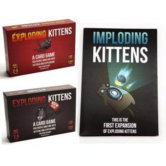 3 pack -Exploding Kittens:Original 、 NSFW and IMPLODING KITTENS - intl