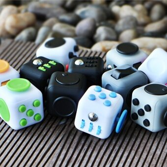 3 pcs American Fidget Cube decompression dice  anti irritability  pressure  anxiety box  vent  extract magic box toysRetro mix long color - intl