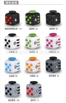 3 pcs Extract Rubik's cube  resist irritability  anxiety  decompression cube  dice artifact  cube  pressure  stress  finger hyperactivityMatte color random - intl