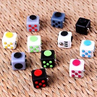 3 pcs Fidget cube decompression decompression cube  decompression cube  box Rubik's cube  creativity  pressure  dice  pie11# black red - intl