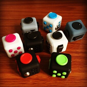 3 pcs Manufacturer Fidget Cube decompression  cube  dice  creativity  puzzle  compression  pressure relief  anxiety toys2# camouflage - intl
