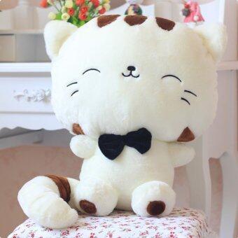 ของขวัญตุ๊กตาน่ารัก ๆ ผ้ากำมะหยี่น่ารักแมวโชคดี (ขาว 30ซม.)