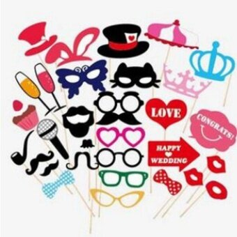 31-Piece Photo Booth Props Party - intl