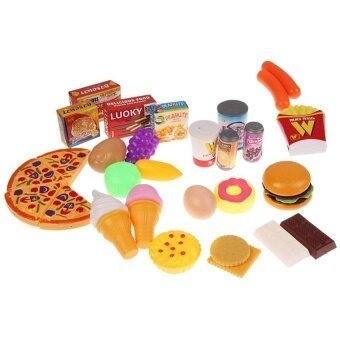 32X Pizza Cookies Hotdog Party Fast Food Cooking Cutting Play Settoy Kids - intl