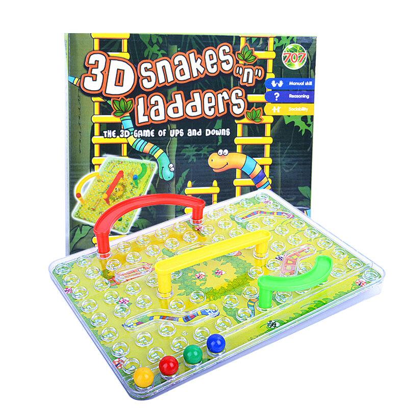 3D เด็กสนุกปริศนาหมากรุกของเล่นเกมงู