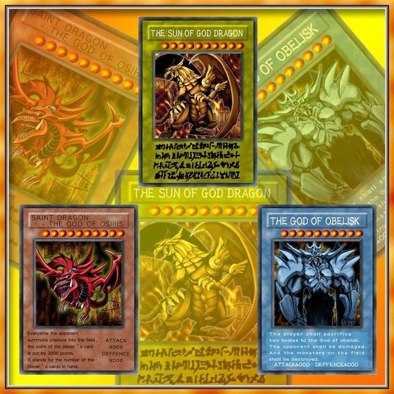 3pcs Yugioh Rare Card YU-GI-OH Egyptian God Cards Children Game Card - intl