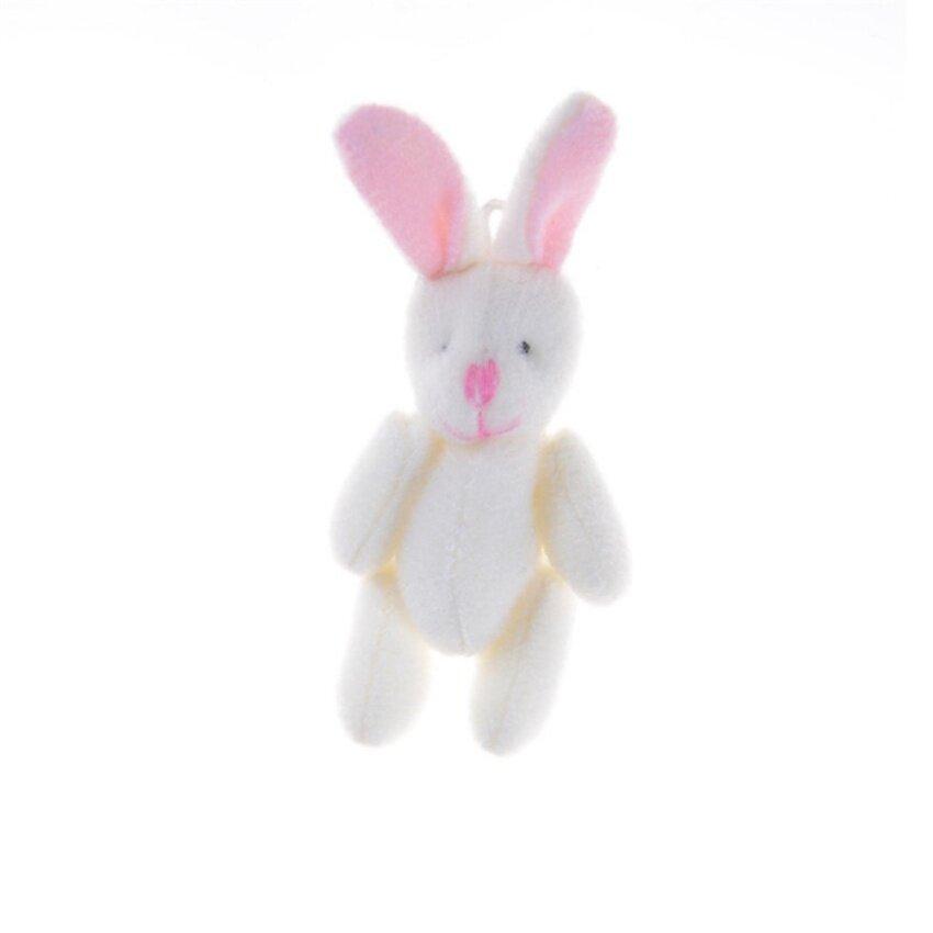 3Pcs/Set 8.5cm Lovely Joint Long Ear Rabbit Plush Toys kids Toys Doll kids Birthday Gift Beige 8.5cm - intl