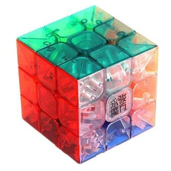 3x3x3 YJ Yulong Transparent Color Stickerless Cube puzzle Moyu - intl