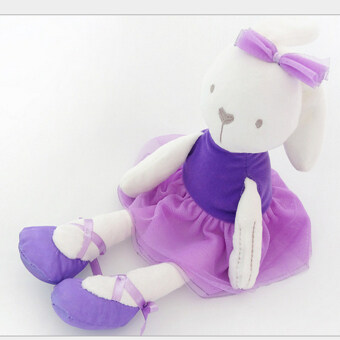42cm Large Soft soft millies brand original super soft stuffed plush toy doll rabbit stuffed baby toy birthday gifts(purple) - intl