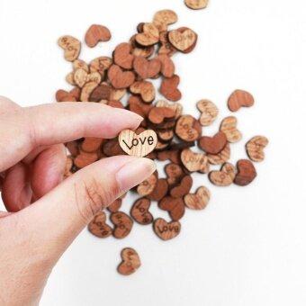 50PCS Wooden Love Button Wedding Decoration - intl