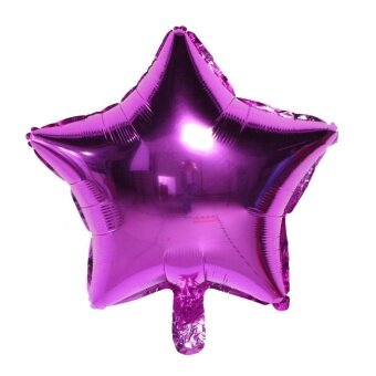 5pcs 18 inch Aluminum Foil Balloons Five-pointed Shape HydrogenBalloon(Rose) - intl