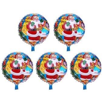 5pcs Christmas Aluminum Foil Balloons Inflatable Party Decor(Multicolor)-Santa Claus3 - intl