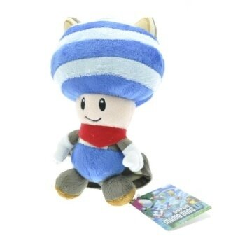 5pcs/lot 20cm Blue Super Mario Bros. U Flying Squirrel Toad Plush Toys Soft Stuffed Toys Figures Toy Plush Doll for Xmas Gifts - intl