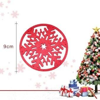 5Set White Snow flower Snowflake Christmas Holiday Party Home DecorOrnament - intl