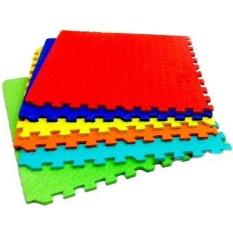 แผ่นรองคลานแบบจิ๊กซอร์ขอบ 60 x 60 หนา 10 mm (6 แผ่น) - Multicolor