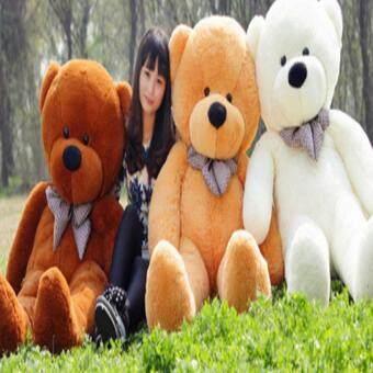 60cm Fluffy toys Plush Cloth Doll Toy Plush Stuffed Animals GiantTeddy Bear Toys (Light Brown) - intl (image 2)