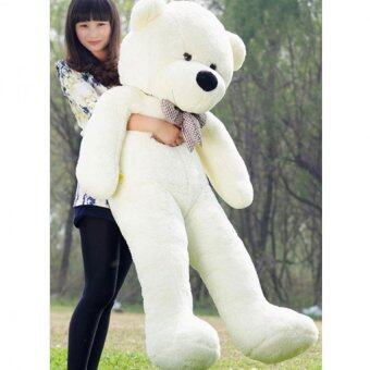 60cm Fluffy toys Plush Cloth Doll Toy Plush Stuffed Animals GiantTeddy Bear Toys (White) - intl