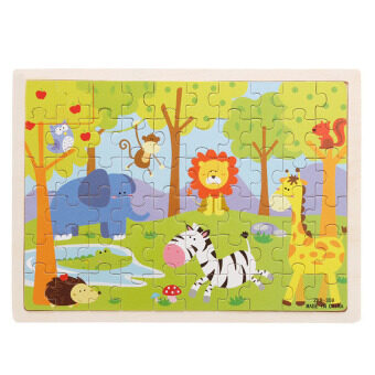 60Pcs Animal Zoo Wooden Jigsaw Puzzle Baby Kids ChildrenEducational Toy - intl