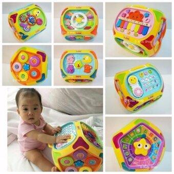 ของเล่นเสริมพัฒนาการ ของเล่นเด็ก กล่องกิจกรรมดนตรีใหญ่ 7 ด้านEducational Toys House