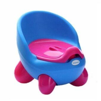 a*bloom กระโถน โถนั่งเด็ก Baby Toilet Training Seat (สีฟ้า) ...