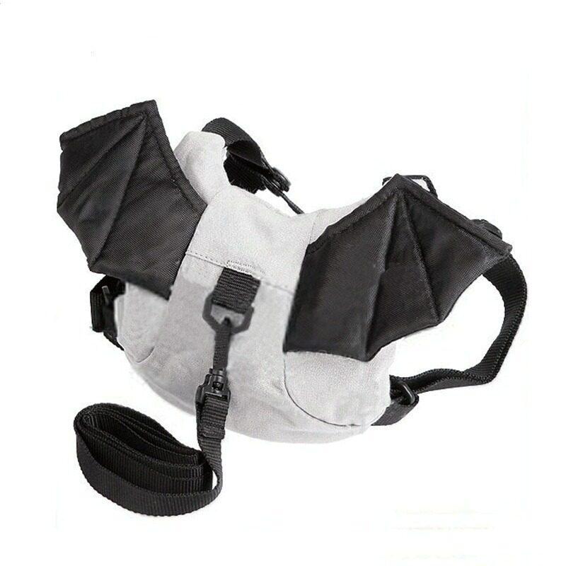 Achute เป้เด็กพร้อมสายจูง ป้องกันเด็กหาย ลายค้างคาว (สีเทา)