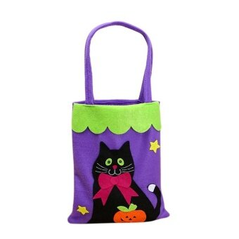 AJKOY Halloween Pumpkin Bag nonwoven bag - A - intl