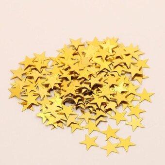 AJKOY Pentagram Bright Piece Birthday Party Confetti WeddingDecoration - Gold - intl