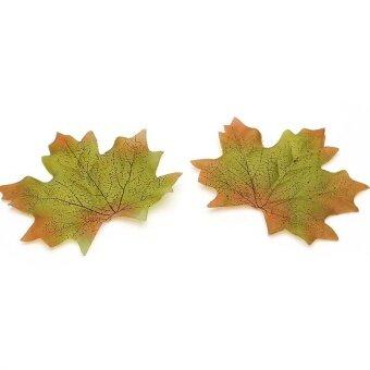 AJKOY Simulation Leaves Autumn Leaves Simulation Flower WeddingDecoration - Green - intl
