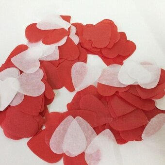 AJKOY Wedding Colorful Confetti Table Decoration - Red + White -intl