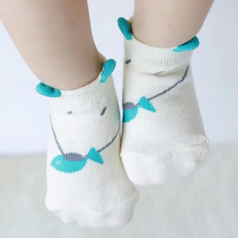 Amart Unisex Baby Short Cotton Sock Cute Pattern Floor Socks White - intl