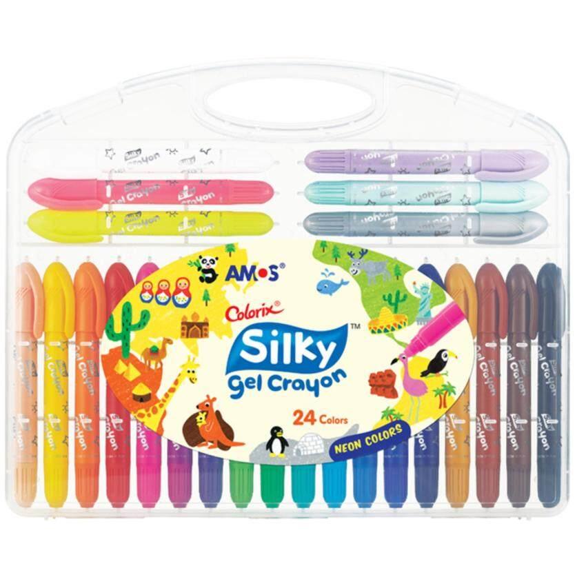 สี Amos Colorix Silky gel crayon 24สี