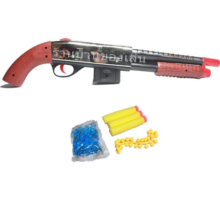 ANDA TOY ปืนของเล่น MUNDO GUN ปืนลูกซองยิงกระสุนเจลโฟมและยาง 303