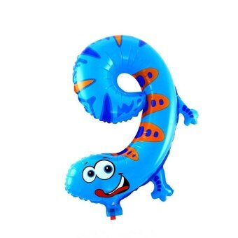 Animal Number Foil Balloons 9 - intl