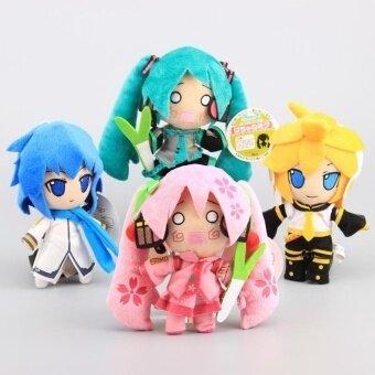 Anime 4 Styles Vocaloid Hatsune Miku Kaito & Kagamine Len Plush Dolls Cosplay Stuffed Toys 16-18 CM - intl