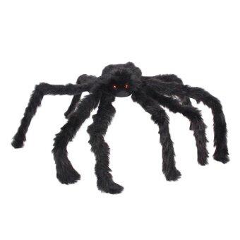 Artificial Black Plastic Spider Halloween Party Festival Banquet Decoration - intl