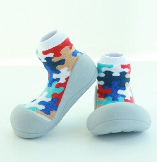 Attipas รองเท้าหัดเดิน รุ่น Puzzle สีGrey Size XL