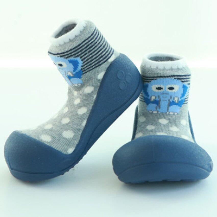 Attipas รองเท้าหัดเดิน รุ่น Zoo สีNavy Size L