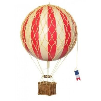 Authentic Models Travels Light Hot Air Balloon Model in True Red - intl