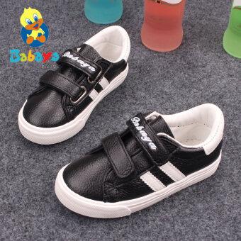 Babaya ฤดูใบไม้ผลิใหม่เด็กชายรองเท้าเด็กรองเท้าผ้าใบ